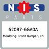 62087-6GA0A Nissan Moulding-front bumper, lh 620876GA0A, New Genuine OEM Part