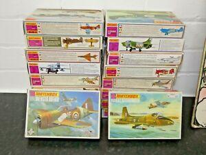 Matchbox Model Airplane Kits Unbuilt in Original boxes 1970s Vintage Military