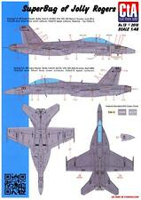 CTA Decals 1/48 BOEING F/A-18F SUPER HORNET SUPER BUG OF THE JOLLY ROGERS