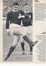 John hughes/bobby Lennox Glasgow Celtic Original Firmada A Mano Imagen De Corte