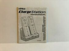 Nyko Charge Station Nintendo Wii MANUAL ONLY Authentic Insert