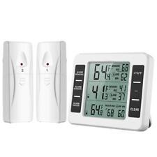 Nevera & Congelador Termómetro MAX MIN Alarma Audible 2 sensores inalámbricos restaurante