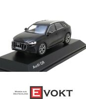 Original Audi Q8 Orca Black 1:43 Model Car 5011708632 Miniature Norev Black New