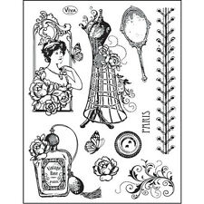 Tampons transparents Viva PARIS COUTURE scrapbooking carterie clear stamps
