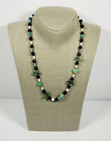 Vintage Necklace Freshwater Pearls Agate Birds & Glass Bead Collar Length Pretty