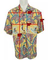 Vintage Reyn Spooner Hawaiian Surfing Shirt Men's Large