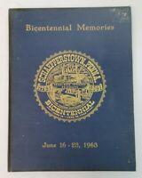 Schaefferstown PA Bicentennial Memories Book June 1963 Heidelberg Waterworks