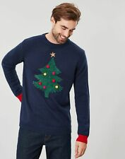 Joules Mens Cracking Christmas Jumper - French Navy - L