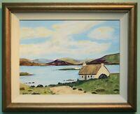 Original Irish Art Oil Painting Framed DONEGAL COAST Signed by Artist FA WAYCOTT