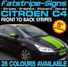 CITROEN C4 STRIPES CAR VINYL GRAPHICS DECALS STICKERS 1.4 1.6 2.0 16V HDI