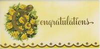 VINTAGE MONOGRAM ALPHABET LETTER C IN YELLOW GARDEN ROSES FLOWERS ART CARD PRINT