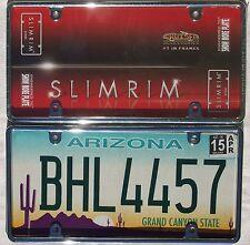 Cromo bastidor de metal unidos matrícula matrícula license plate U.S. size Frame