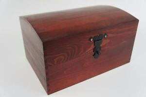 Lacquered X Large Treasure Chest Wooden Box MemoryTrinket Souvenir Craft