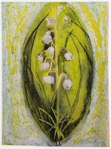 Lily of the Valley Graham Sutherland print in 11 x 14 inch mount ready to frame