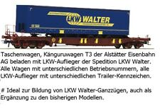 Roco 75907 Taschenwagen LKW Walter Ep VI Auf Wunsch Märklin Achsen für gratis