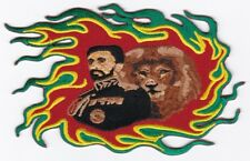 "RASTA King/Lion Embroidered Patch 6""x4"""