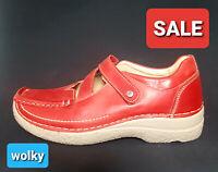 Wolky Seamy Comfort Damen Schuhe Ballerina Sneaker Slipper Leder rot Gr.40 NEU