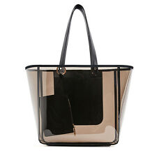 Women's Summer Jelly Candy Clear Transparent Handbag Tote Shoulder Beach Bag hot