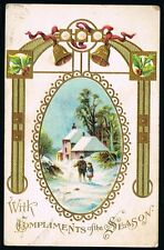 Vintage Compliments Of The Season Postcard No. 805/3