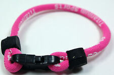 Hot Pink Titanium Dual Sport Single Loop Balance Bracelet Wristband Power Golf