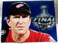 Detroit Red Wings Head Coach Mike Babcock Signed Stanley Cup 8x10 Photo Auto