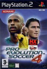 pes Pro Evolution Soccer 4 ps2 ITA licenze ufficiali SEALED BRAND NEW