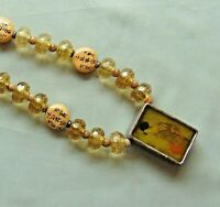 Vintage CHICO's Oriental Japanese Figurine Pendant Bead Necklace