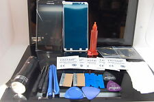 Galaxy ALPHA A3 BLACK Front Glass Repair Kit, Loca Glue, Wire, 9 LED UV TORCH