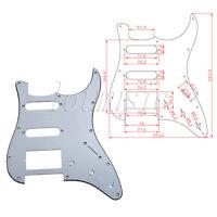 Aluminum Surface Electric Guitar Pickguard For Fender Strat SSH Pickup 11 hole