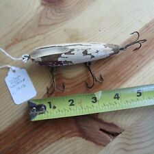 New listing Antique Wilson Fluted Wobbler wooden fishing lure c.1913 (lot#9038)