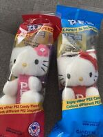 Hello Kitty Plush PEZ Keychain Sanrio Candy Dispenser  Pink 2 Included