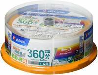 20 Verbatim Blank Blu ray Discs BD-R DL 50GB 2 Dual Layer bluray JAPAN