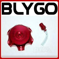 RED Alloy Gas Fuel Petrol Tank Cap + Breather 110cc 125cc PIT Trail Dirt Bike