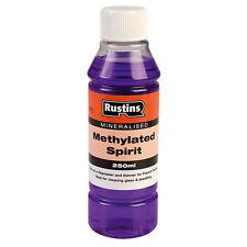 Rustins Mineralised Methylated Spirit 250ml Various Uses Including Lighting BBQs
