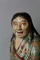 Unique Ceramic sculpture of Gama Sennin , circa 1800-1860s, Edo period GG12