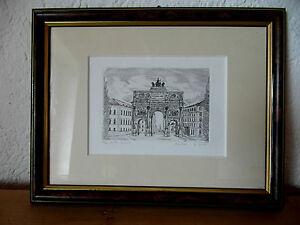 Radierung R. Beloch München Siegestor Carena Art & Design 50/2cc Original