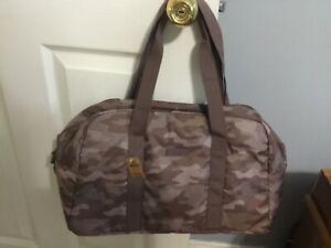 Victoria's Secret PINK Bora Brown Camo Duffle Bag NWT