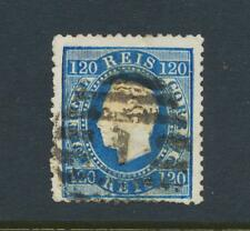 Portugal 1871 , 120Rs Perforado 12 ½, VF Usado Sc# 46 ( Ver Abajo )