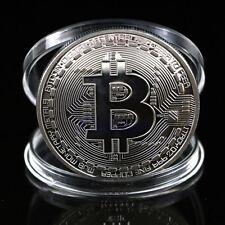 Silver Plated Bitcoin Coin Collectible BTC Coin Art Collection Gift Physical