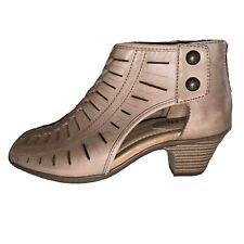 Earth Leather Peeptoe Heeled Sandals Size 5.5 B Nwob