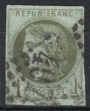 "FRANCE STAMP TIMBRE N° 39C "" CERES BORDEAUX 1c OLIVE REPORT 3"" OBLITERE TB  M179"