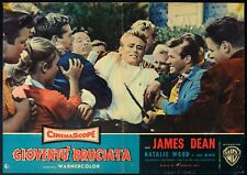 GIOVENTU' BRUCIATA Rebel Without a Cause JAMES DEAN, FOTOBUSTA POSTER 1a ED '56