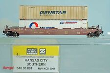 Micro Trains MTL Z Scale/Gauge 540 00 091 KC Southern Husky-Stack Well Car
