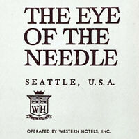 Vintage 1962 Space The Eye Of The Needle Restaurant Menu Western Hotels Seattle