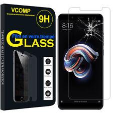 "Lot/ Pack Film Verre Trempe Protecteur Xiaomi Redmi Note 5/ Note 5 Pro 5.99"""