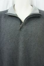 Tasso Elba Sweater Mens Sz XXL Dark Grey Heather Cotton Henley Pullover