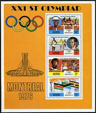 Kenya 63a S/S, MNH.Olympics, Montreal.Bua,hurdler;Bayi,runner;Muchoki,boxer,1976