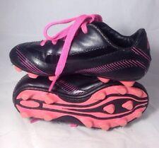 9dd65d02e Brava Soccer Cleats size 11 girls boys youth Pink Black kids child (bin C)