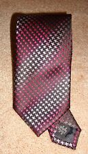 "Via Regina 100% Silk Tie Purple Stripe Made in Como Italy Mens 59"" x 3.25"" NEW"