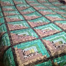 King Size Green Log Cabin Quilt